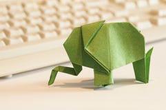 Paper origami elephant Royalty Free Stock Photo