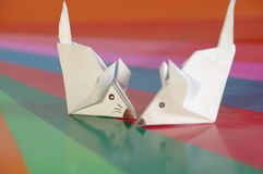 Paper origami mouse Royalty Free Stock Photography
