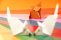 Paper origami mouse Royalty Free Stock Photo