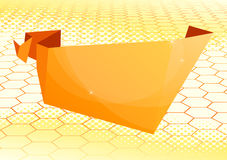 Paper origami speech bubble Royalty Free Stock Photos