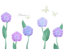 Paper origami violet flawers Stock Photography
