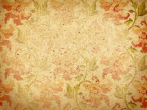 Paper with ornament. Beige paper background with ornament stock photography