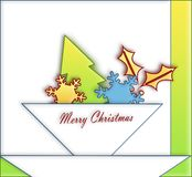 Paper  ornaments Christmas Royalty Free Stock Image