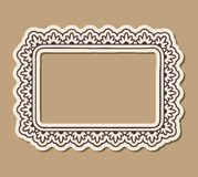 Paper ornate frame Stock Images
