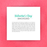 Paper over Happy Valentine's Day Line Art Background. Vector Illustration of Piece of Paper over Love Outline Modern Design vector illustration