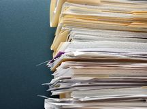 Paper overload royalty free stock images