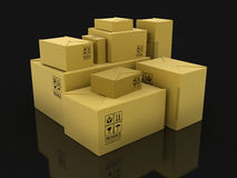 Paper Packages (clipping path included) Stock Photos