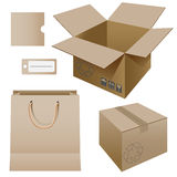 Paper packaging Stock Photos