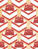 Paper for packing gifts box red bow. Red Stock Photo