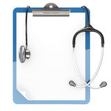 Paper pad holder and stethoscope Stock Image