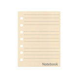 The paper pad with line of notebook isolated on a white backgrou Royalty Free Stock Photos