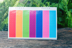 Paper pad stand colour calender.vintage filter Stock Image