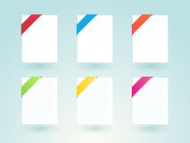 Paper page Stock Image