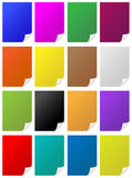 Paper page curls. Colorful paper with page corner curls Stock Images