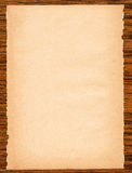 Paper page on wood Royalty Free Stock Photography