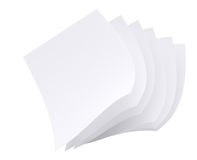 Paper pages. Isolated on white background. 3d rendered image Stock Photos