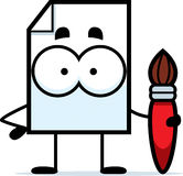 Paper Paintbrush Royalty Free Stock Image