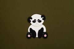 Paper panda applique Stock Photo