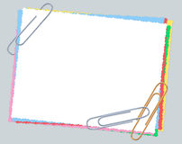 Paper, paper clips, isolated Stock Photo