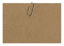 Paper with paperclip. Design paper with paperclip close up Royalty Free Stock Photos