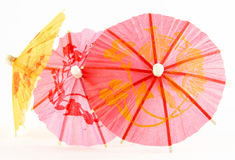 Paper parasols in pink  yellow Royalty Free Stock Image