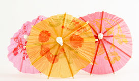 Paper parasols in pink  yellow Royalty Free Stock Photography
