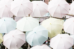 Paper parasols with the word Stock Images