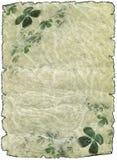 paper parchment bläddrar shamrocken Arkivbild
