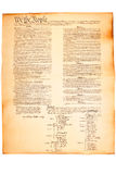 paper parchment för konstitution oss Arkivfoto