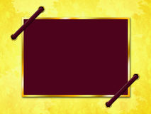 Paper Parchment Means Empty Space And Bordering. Parchment Paper Showing Empty Space And Framing royalty free illustration