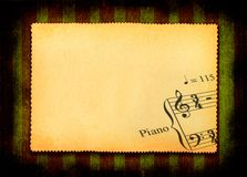 Paper with part of music note Stock Photo