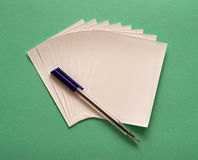 Paper and pen royalty free stock photos