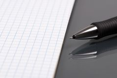 Paper and Pen 2 Royalty Free Stock Photo