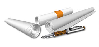 Paper And Pen Stock Photography
