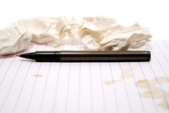 Paper And Pen Royalty Free Stock Photo