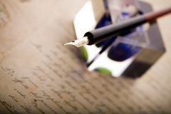 Paper & Pen Royalty Free Stock Photography