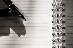 Paper with pen. Royalty Free Stock Image