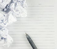 Paper and pen For writing Stock Image