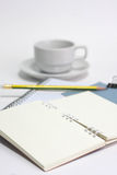 Paper and pencil Royalty Free Stock Photography