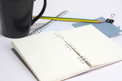 Paper and pencil Stock Image