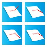 Paper and pencil Royalty Free Stock Images