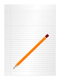Paper and pencil 2 Royalty Free Stock Photography