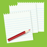 Paper and a pencil Royalty Free Stock Photos