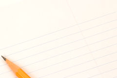 Paper and pencil. Writing paper with pencil Stock Photos