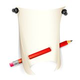 Paper and Pencil Royalty Free Stock Image