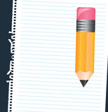 Paper and pencil Royalty Free Stock Photo