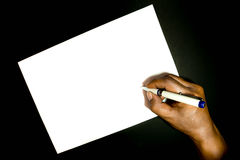 Paper. And pencil brown background Royalty Free Stock Photo