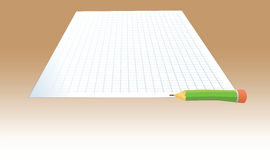 Paper pencil test Royalty Free Stock Photo