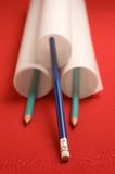 Paper and pencils Stock Image