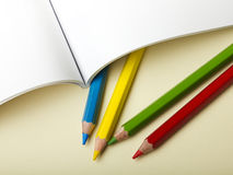 Paper and pencils Stock Photography